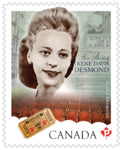 Viola Desmond on a Canadian stamp